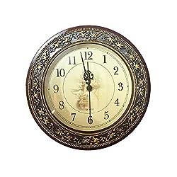 BRXY 8 3/5 Retro Wall Clock, European Style Decorative Wall Clock, Classic Clocks Quartz Clock Brushed Metallic Gold Paint Surface Texture on The Perimeter for Home/Office/School(1pcs)