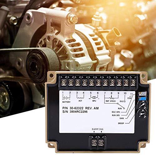 LONGWDS Controlador de Velocidad Controlador de Velocidad electrónico del Motor, 3062322 Controlador de Velocidad del Motor Gobernador DC 12-24V para Piezas GENSET GENERADORES (3062322)