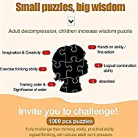 BOIPEEI ジグソーパズル1000ピース大人のパズルウッドラビット子供アートDiyレジャーゲーム楽しいおもちゃギフト適切な家族フリーン
