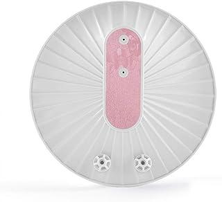 Xu-dishwasher Hogar Ultra pequeño lavavajillas, hortalizas Fruit portátil Lavadora, Placa Limpiador for Taza del Plato eficiente de la energía de Ruido Diseño de Baja (Color : White+Pink)
