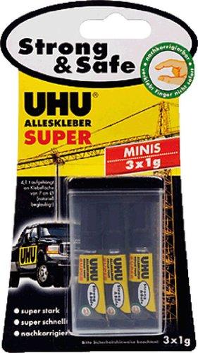 UHU Alleskleber Super Strong & Safe MINIS 3x1g/44305 Blisterkarte Inh.3 x 1 g