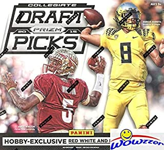 2015 Panini Prizm Draft Picks NFL Football HUGE Factory Sealed HOBBY Box with TWO (2) AUTOGRAPHS! Look for Rookies & Autographs of Todd Gurley, Marcus Mariota, Jameis Winston & Many More! WOWZZER!