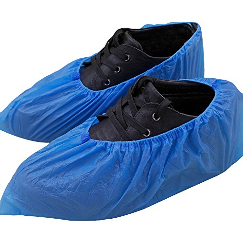 Cubre zapatos, peucos Azul de PE (Polietileno) para laboratorio, alimentación, visitas a...