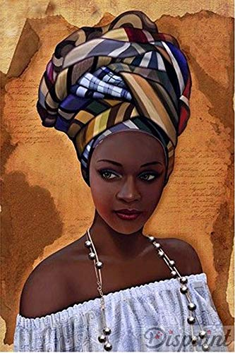 5D DIY Diamant Schilderij Afrikaanse Vrouw Borduurwerk Cross Stitch Mozaïek Parel Schilderij Thuis Decor,40cmx60cm