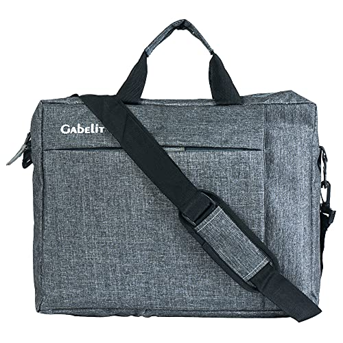 Gabelit Office Laptop Bags Briefcase 15.6 Inch for Women and Men (Grey)