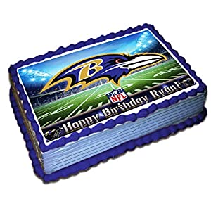 Baltimore Ravens NFL Personalized Cake Topper Icing Sugar Paper 1/4 8.5 x 11.5 Inches Sheet Edible Frosting Photo Birthday Cake Topper