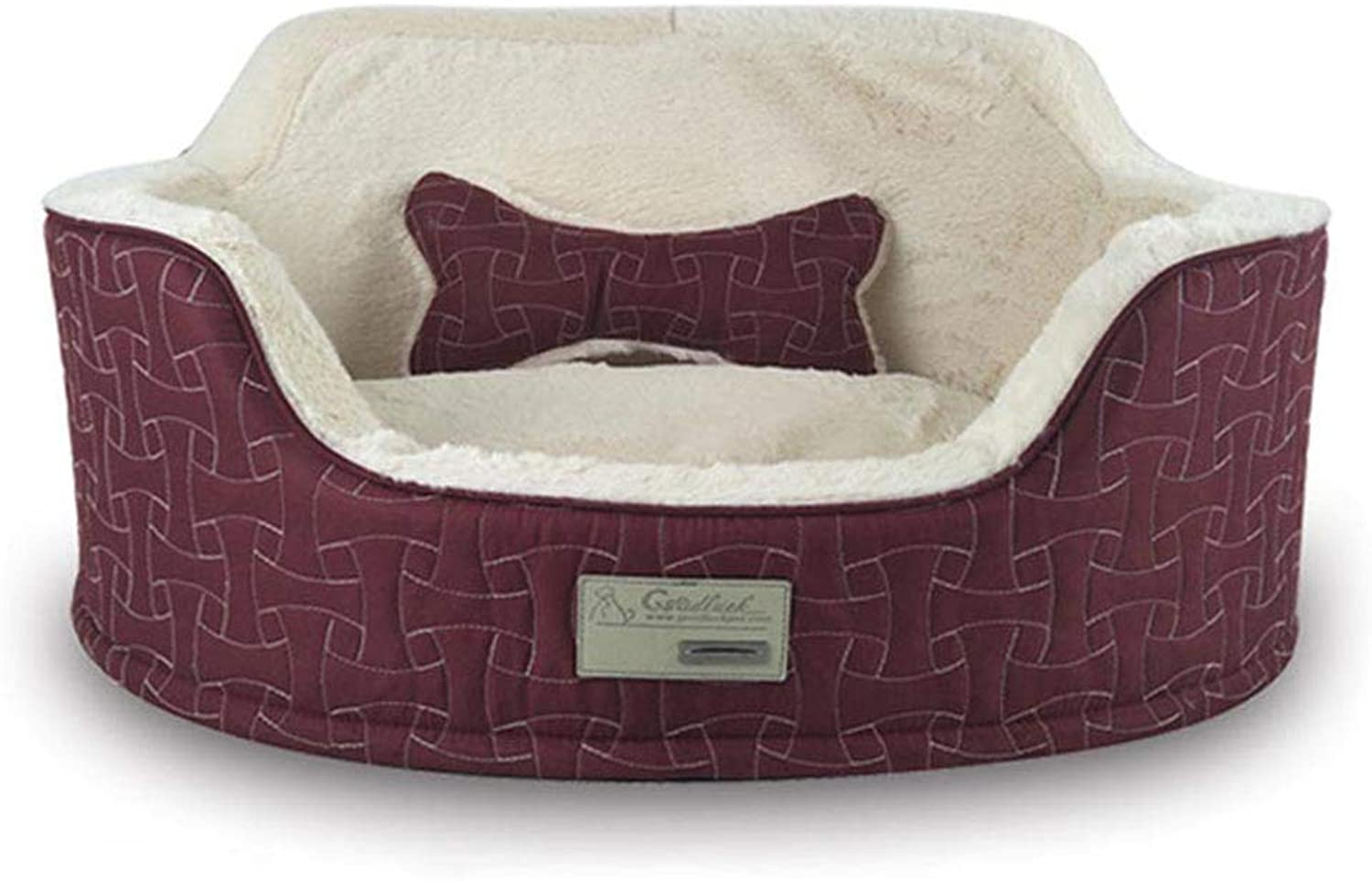 HeiPlaine Pet Sofa Autumn&Winter Cat Bed Kennel Soft Dog Mats Puppy Dog Bed Pet House Cozy Nest Kitten Pad Thick Warm Pet Cushion (Size   65  50  23cm)