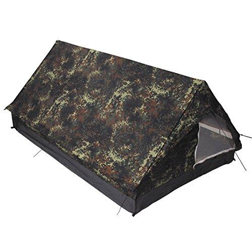 MFH Minipack BW - Tienda de campaña para 2 Personas Militar (mosquitera integrada)