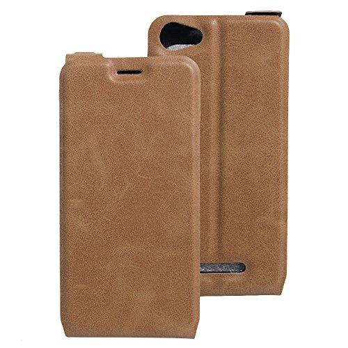 Litao-Case CN Hülle für WIKO K Kool hülle Flip Leder + TPU Silikon Fixierh Schutzhülle Case 5