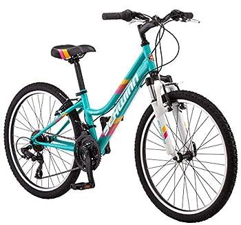 Schwinn High Timber Youth/Adult Mountain Bike Steel Frame 24-Inch Wheels 21-Speed Teal