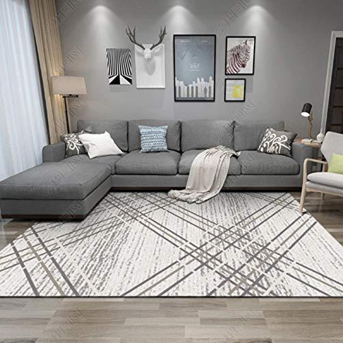 Alfombra De Salón Moderna Varias Dimensiones S-XXXL - Alfombra de Dormitorio diseño Creativo línea Simple Calidad Casual Moderno fácil de Limpiar-El 120x160cm