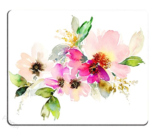 Beautiful Watercolor Flower Rectangle Mouse pad Customized Non Slip Rubber Rectangle Mouse pad Non Slip Rubber Mouse pad Gaming Mouse Pad