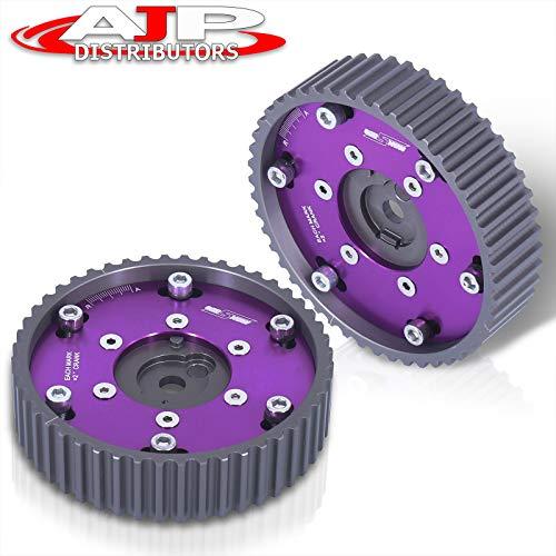 AJP Distributors Adjustable Cam Gears Timing Gear Pulley Kit Compatible/Replacement For BMW E21 E28 E30 E34 E36 318i Z1 M20 2 Piece Purple