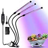 LED Grow Light Plant Grow Lamp 3 Head 57 LEDs Timing Clip Dimmable