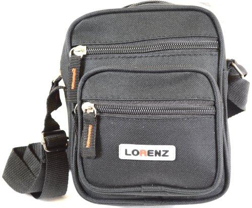 Handy Small Canvas Style Shoulder Bag / Cross Body Bag - Bl