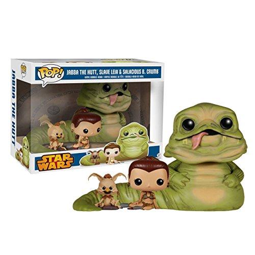 Funko POP! Exclusive Star Wars 6' Jabba the Hutt with Slave Leia & Salacious B. Crumb