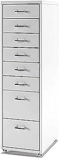 QSJY Meubles de rangements à tiroirs Classeur dossiers Suspendus 8 tiroirs, tiroirs à roulettes Dossier, dépôt Tiroirs en ...