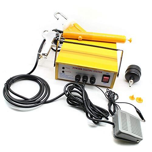Berkalash Elektrostatische Pulverbeschichtungsgerät, Pulverspritzmaschine Farbpistolen-Set Pulverpistole, zum Sprühen und Formen von Metallteilen