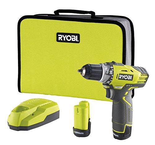 Ryobi 5133001158 Akku-Kompakt-Bohrschrauber Typ RCD12012L, 12 V, Schwarz, Gelb