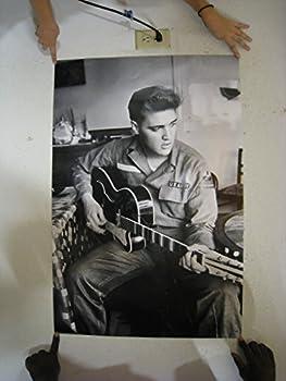Elvis Presley Army Uniform  Black/White Poster - Rare New - Image Print Photo