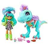 Cave Club Muñeca Rockelle con Mascota Dinosaurio Azul, conjunto con accesorios para niños y niñas...