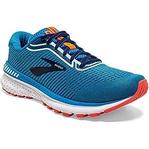 Brooks Womens Adrenaline GTS 20 Running Shoe - Blue/Navy/Coral - B - 8