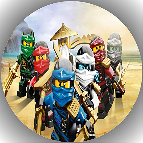 Fondant Tortenaufleger Tortenbild Geburtstag Kompatibel mit Ninjago L1