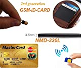 Gsm - Auricular con tarjeta de identificación para espía con Bluetooth invisible, pequeño, inalámbrico, micro...