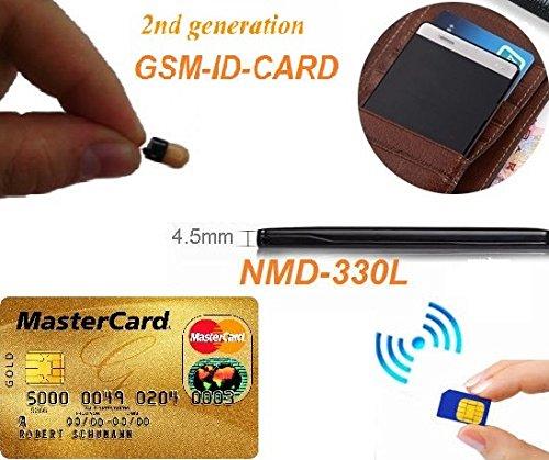 Gsm - Auricular con tarjeta de identificación para espía con Bluetooth invisible, pequeño, inalámbrico, micro encubierto