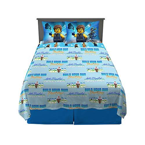 Franco Kids Bedding Sheet Set, 4 Piece Full Size, Lego Movie 2