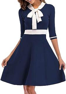 YKeen Women Denim Sleeveless Button-Down with Belt Cocktail Party Dress