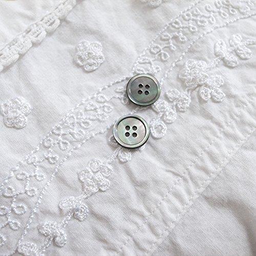【丸型(シンプルデザイン)】黒蝶貝ボタン#bt016 4穴11.5mm 10個セット