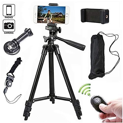 ZzWEI statief, live zelf-opnamen als beugel intrekbare draagbare Bluetooth-afstandsbediening, geschikt voor mobiele telefoons/SLR-camera's