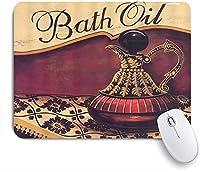 ECOMAOMI 可愛いマウスパッド ノスタルジックなやかん赤茶色の背景 滑り止めゴムバッキングマウスパッドノートブックコンピュータマウスマット