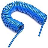 HOSEMART Polyurethane (PU) 10mm x 6.5mm - 10mtr Flexible Pneumatic Pipe Coil Spiral Tube Hose
