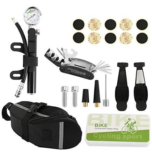 Juego de herramientas de reparación de bicicletas Kit Saddle Bag Pack de asiento de ciclismo para MTB Accesorios para bicicletas Bolsa Bolsa Bolsa Ciclo de montaña Ciclo de herramientas Multítimo Para