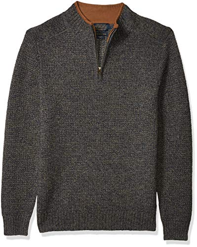 Pendleton Men's Shetland Half Zip Cardigan Sweater, midnight camo, SM