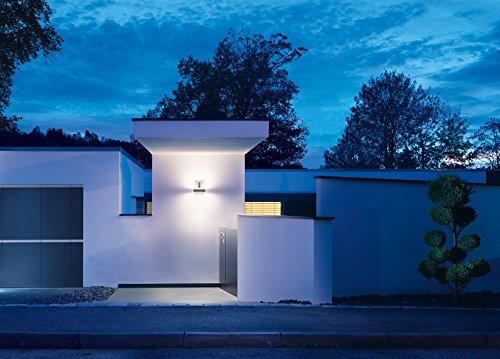 Steinel LED Hausnummernleuchte L 820 LED anthrazit, inkl. Hausnummern, 12.5 W, 160° Bewegungsmelder, max. 5m Reichweite