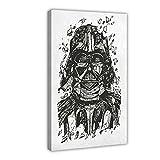Póster de Star Wars Darth Vader Blueprints de lona para decoración de dormitorio, deportes, paisaje, oficina, habitación, marco de regalo, 60 x 90 cm