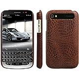 HualuBro BlackBerry Classic Hülle, [Ultra Slim] Premium Leichtes PU Leder Leather Handy Tasche Schutzhülle Hülle Cover für BlackBerry Classic Q20 Smartphone (Braun)