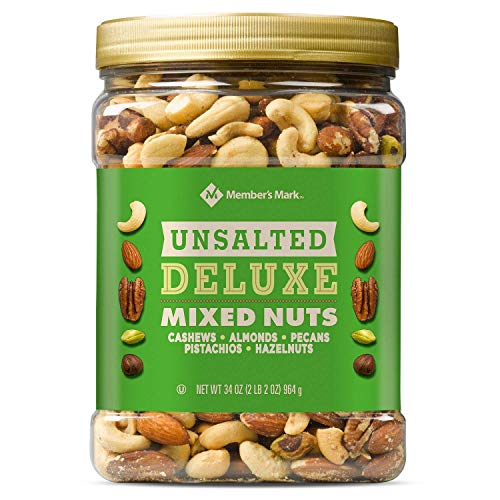Member's Mark Unsalted Deluxe Mixed Nuts 34 oz. (pack of 4) A1 - 4 SET