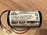 Bateria para MCS-710[0-9912-K], Visonic, 3V Bateria de Litio de Repuesto con Cable Conecto para Campana/Sirena