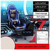 Silla Gaming Profesional Gaming Chair Silla Oficina Ergonomica PU Asientos Mobiliario Oficina Consolas Video Juegos Casa...