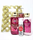 Bath and Body Works Twisted Peppermint Holiday Traditions Bag Gift Set - Body Lotion - Shower Gel - Foaming Hand Sanitizer and Fine Fragrance Mist - Full Size