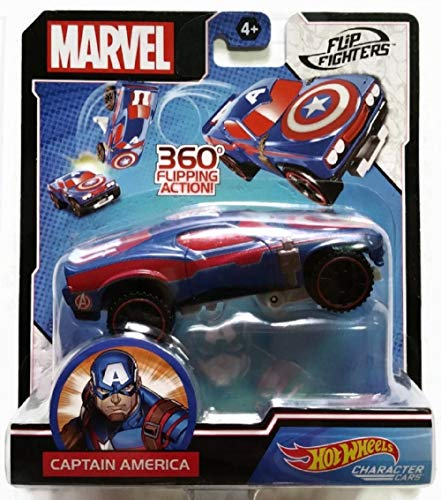 Hot Wheels Character Cars - Flip Fighters - Captain America