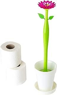 Vigar Flower Power Set Escobillero WC, Blanco, 12 x 12 x 48.