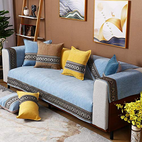 Cubierta De Muebles A Prueba De Polvo,Universal thin sofa Protector Covers,L shape wear-resistant couch cushion,Chenille sofa saver,modern non-slip Couch Slipcover-La-Cada pieza se vende por separado
