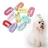 10 Pezzi Fiocchi per Capelli per Cane Cani Fiocchi per Capelli Pet Dog Cat Hair Accessories per Cani di Piccola Taglia Colori Assortiti