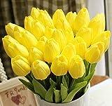 100% nuovo ed alta qualità. Tulipano fiori artificiali, ben fatto e dai colori vivaci, sembra reale-like. Il tulipano sono realizzati in seta di alta qualità e facile da pulire. Ideale per l'immissione in un vaso, riempiendo di pezzi centro o decoraz...