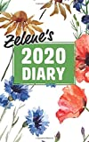 """Zelene's 2020 Diary: Personalised 5x8"""" Poppy and Cornflower Cover, Week To View"""